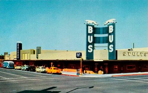Phoenix Greyhound Bus Terminal Phoenix Arizona Az Vintage Postcard Greyhound Bus Road Trip Camping Bus Terminal