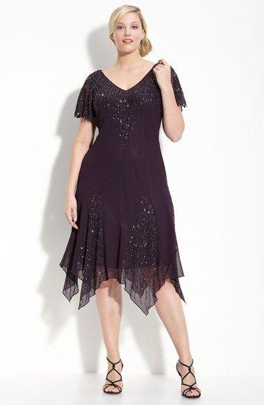 Free Shipping And Returns On J Kara Beaded Godet Dress Plus Size