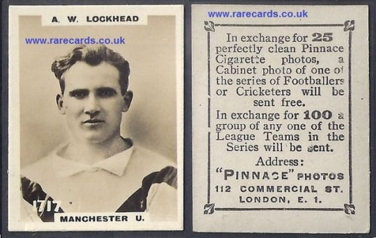 Man Utd Pinnace K high number 1717 A. W. Lockhead frameline 1923 Godfrey Phillips football Manchester United rookie card soccercard cigarette cards.  BUY IT NOW easily, shipping included just click here:   https://www.paypal.me/rarecards/41.71 #Man Utd Pinnace K high number 1717 A. W. Lockhead frameline 1923 Godfrey Phillips football Manchester United rookie card soccercard cigarett#Manchester United rookie#1923#high number#pinnace#Lockhead#1717