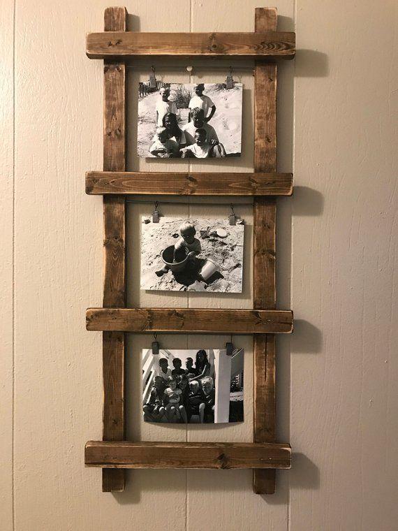 porte photo rustique porte photo ladder chelle d cor. Black Bedroom Furniture Sets. Home Design Ideas