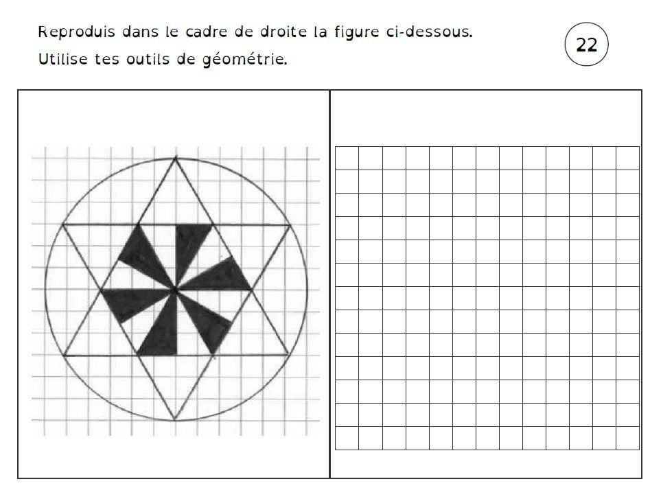 Fichiers De Figures Geometriques A Reproduire De Deux Choses L Une Quadrillage Ce1 Geometrie Jeux Maths