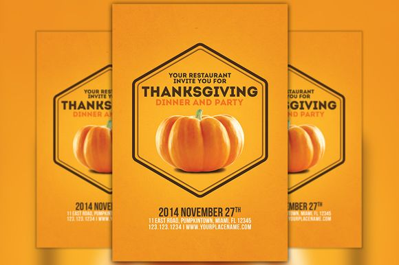 Minimal Thanksgiving Flyer Template Flyer Template Minimal And