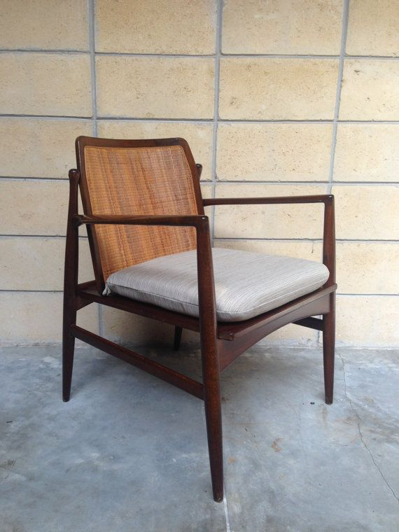 RESERVED For Nasrulalam: Ib Kofod Larsen Cane Back Chair For Selig.