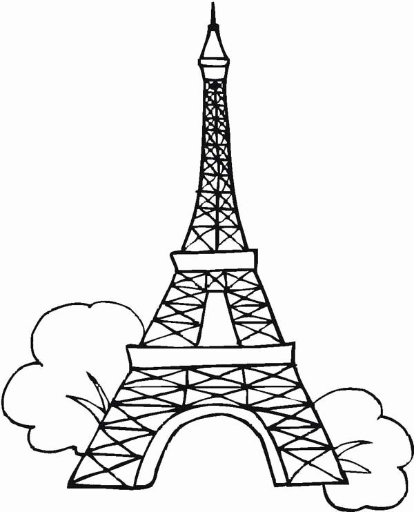 28 Eifel tower Coloring Page in 2020 | Eiffel tower ...
