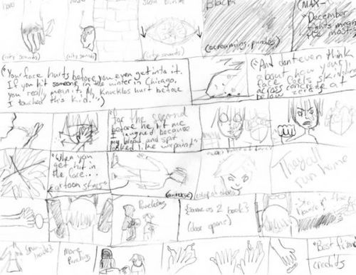 Rough Sketch Of A Storyboard For A Movie Max Kaitlin And I Are