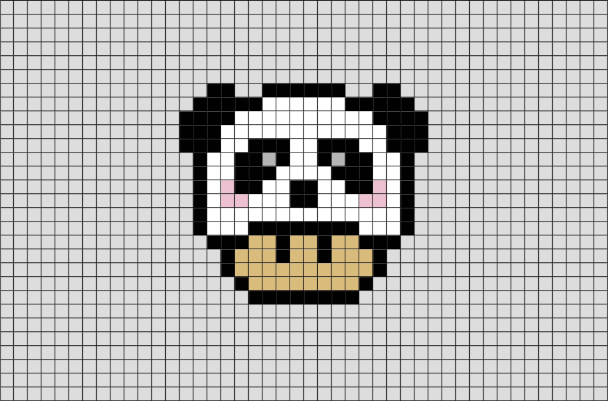 Panda Mario Mushroom Pixel Art Pixel Art Licorne Pixel