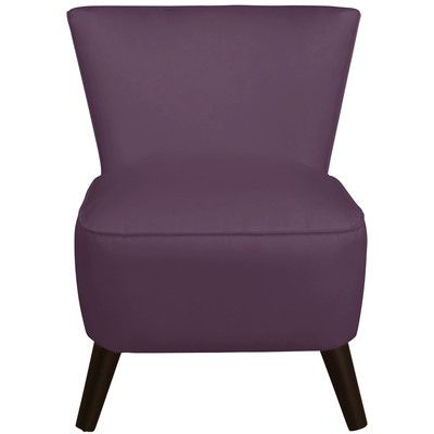 Langley Street Premier Slipper Chair Color: Purple