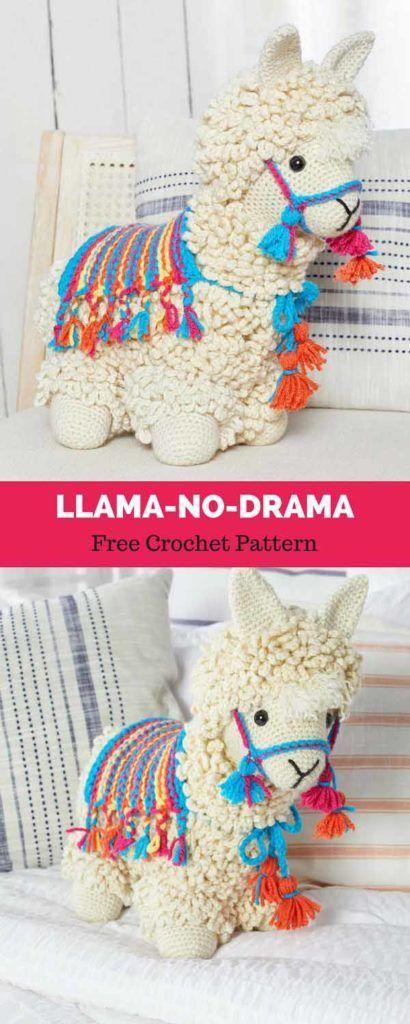 Llama-No-Drama [ Free Crochet Pattern   Hilos y lanas   Pinterest