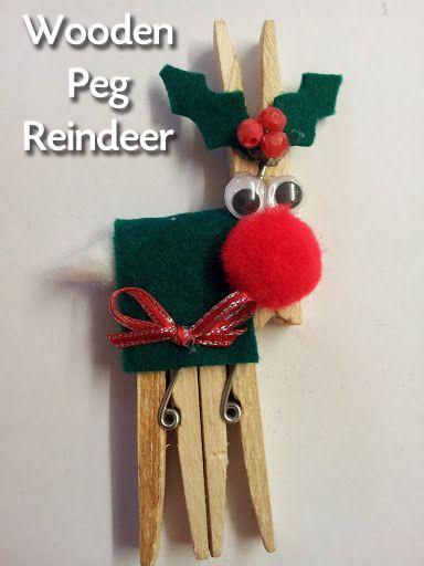 Reindeer Peg Craft For The Holidays Christmas Crafts Reindeer