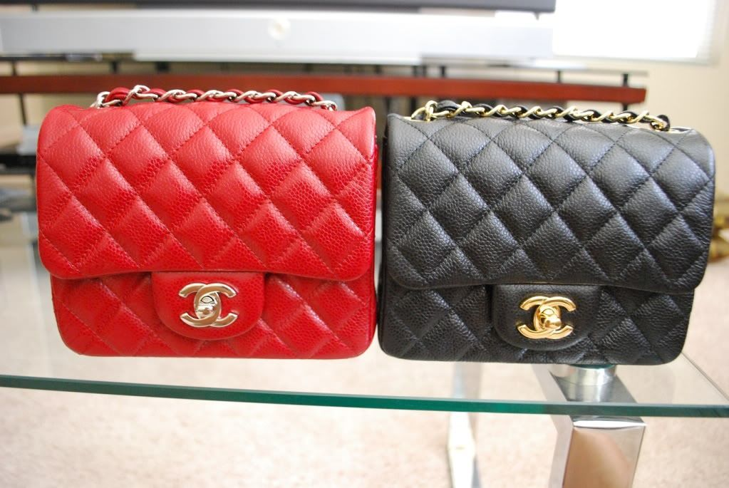 ebd4fb8718974 12A Square Minis in Red SHW and Black GHW (Lots of Pics) - PurseForum