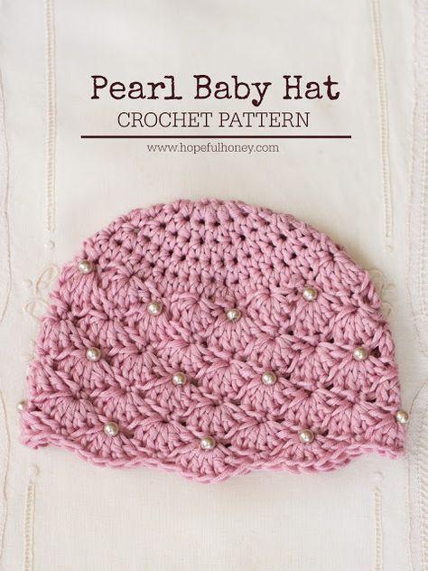 Vintage Pearl Baby Hat - Free Crochet Pattern | Crochet patrones ...