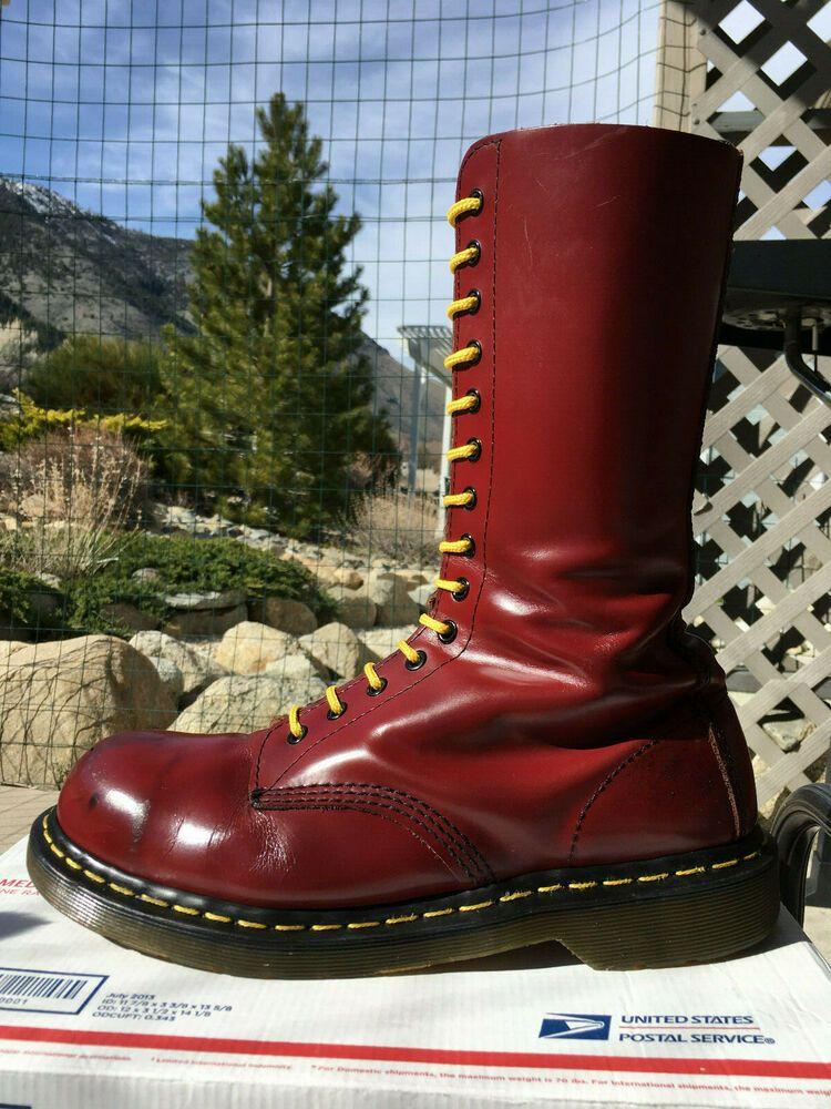 5924d3daa753d eBay Sponsored) Dr Martens 14-eye Steel Toe boots US 10 shoes doc ...