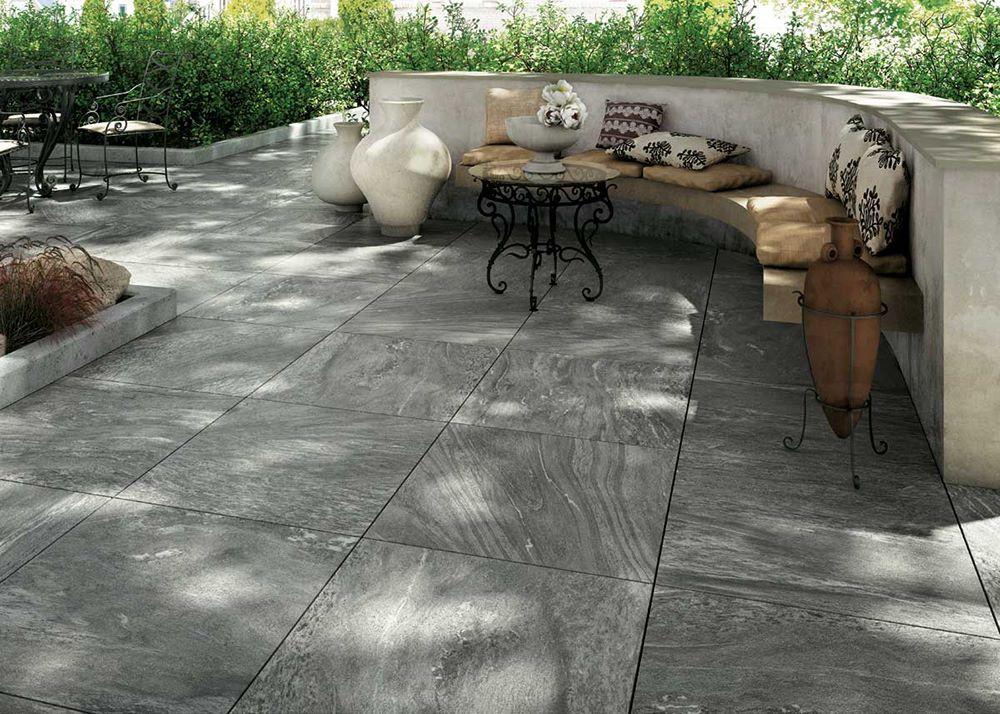 Only 36 M2 Lumnezia Grey Anti Slip Italian Porcelain Tile Patio Concrete Patio Makeover Paver Patio