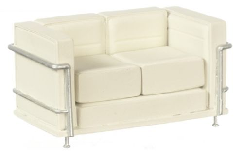 Dollhouse-Miniature-Le-Corbusier-Modern-Sofa-in-Resin