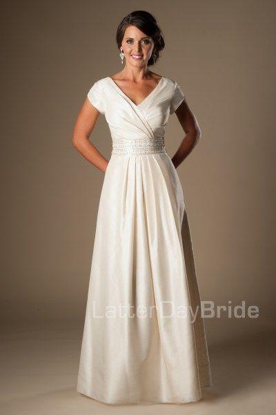 Modest Wedding Dress | LDS Bridal Gown | LatterDayBride & Prom | SLC ...