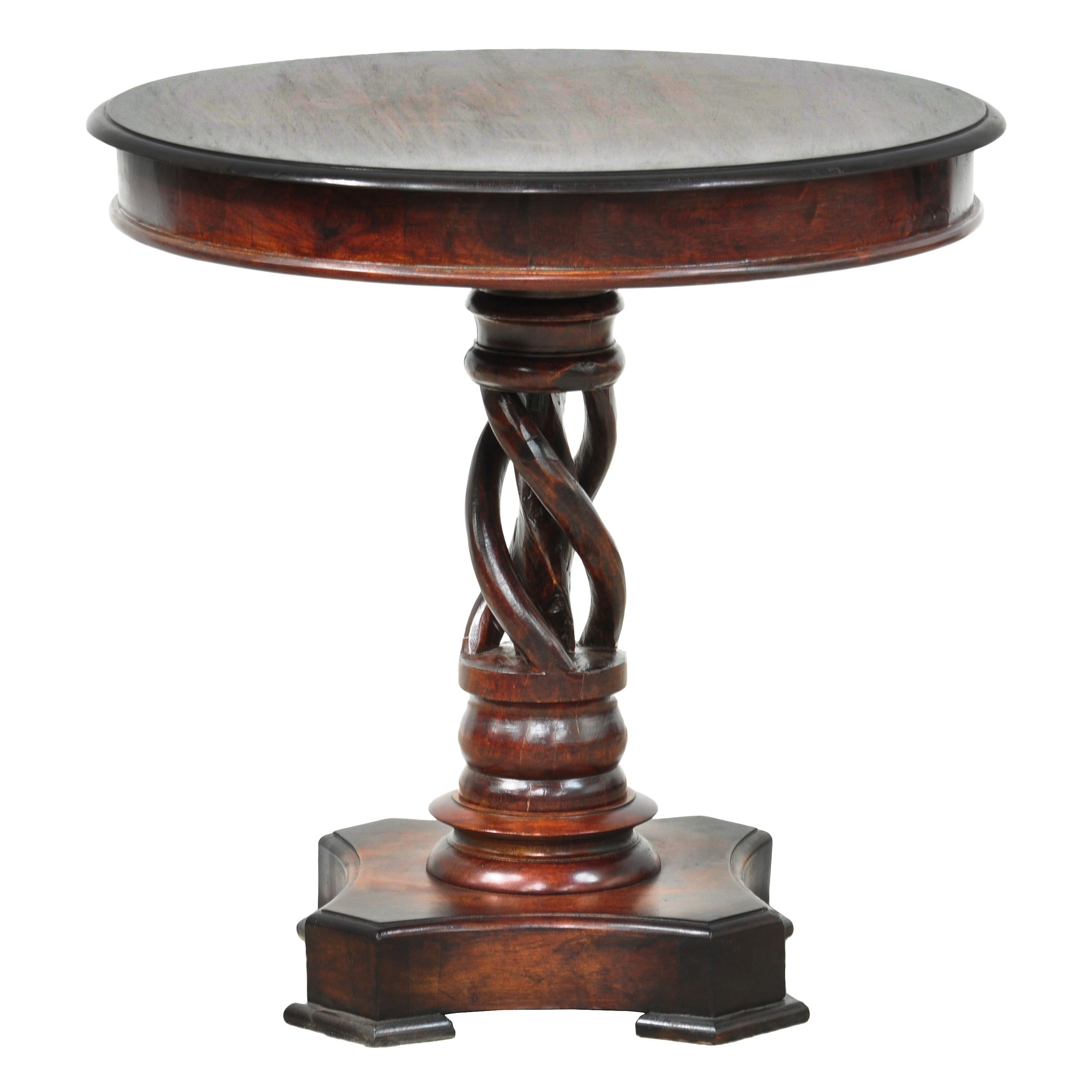 Perfect Kosas Home Bella 30 Inch Round Handcrafted Acacia Wood Accent Table (