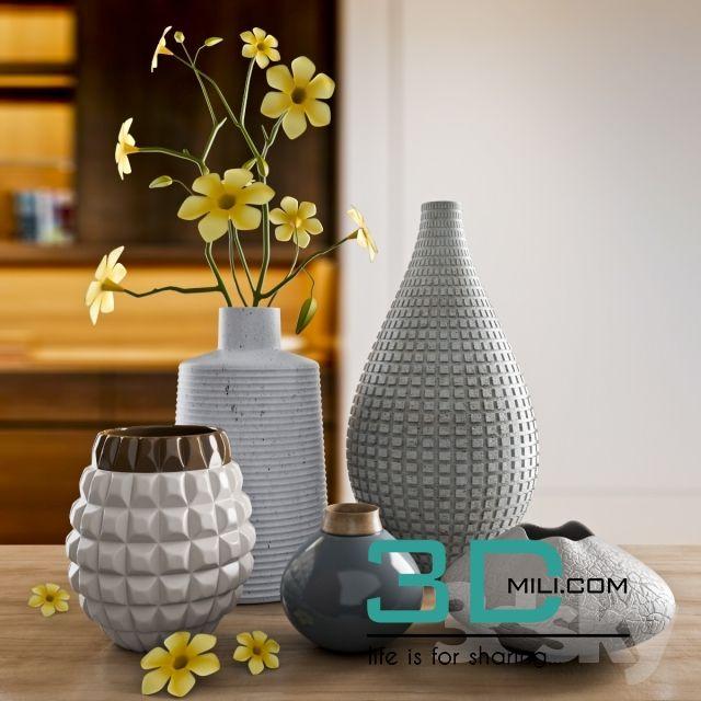 nice 104.  Vase Decor 3DMili Model 104 Download here: http://3dmili.com/decoration/decorative-set/104-vase-decor-3dmili-model-104.html