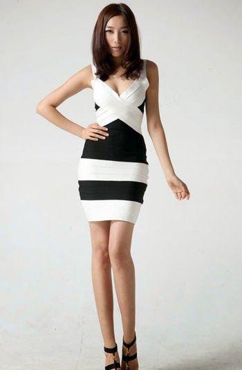Black And White Dresses Pinterest Black N White Dress White Bandage Dress Dresses