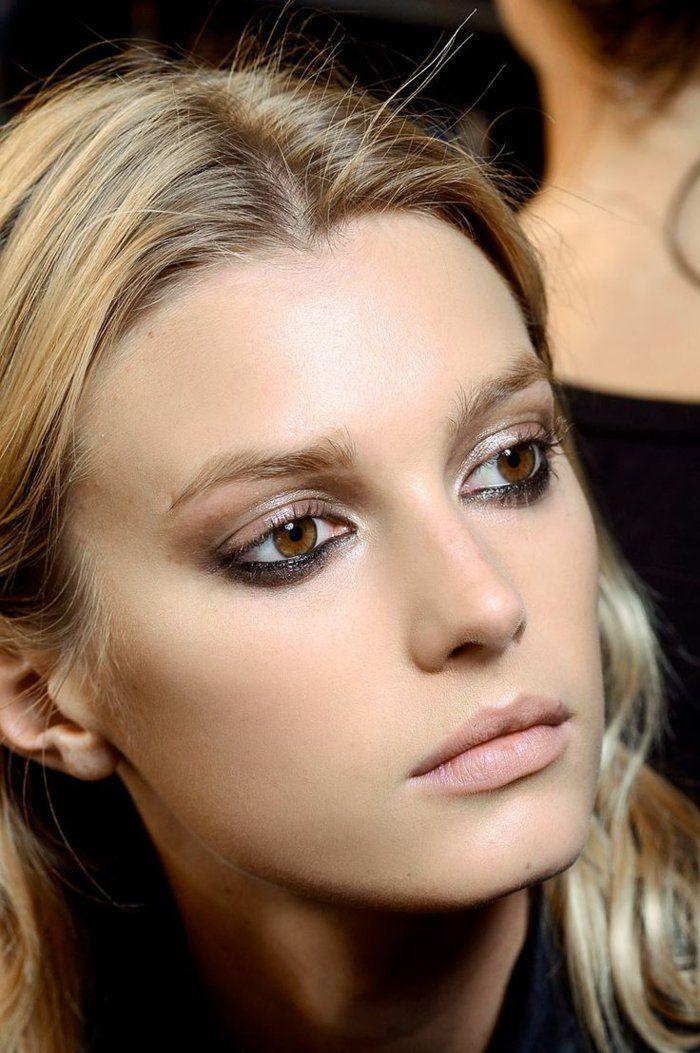 Apprendre à se maquiller , maquillage yeux marrons