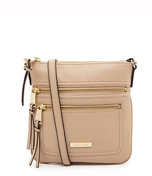 Calvin Klein Pebble Leather Cross Body Bag Dillard S Mobile Canta El Cantalari