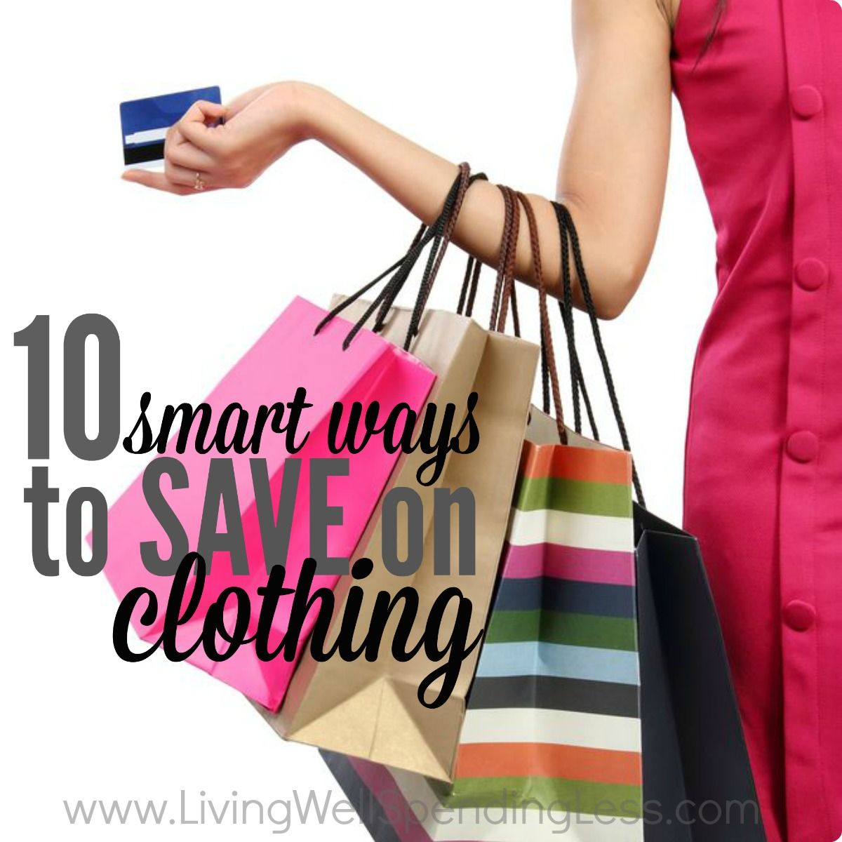 Do you ever feel like you have nothing to wear? Creating a wardrobe we love while sticking to a budget we can afford is not always easy, but it CAN be done!!  Don't miss these ten smart ways to save on clothing while still getting the looks you love!