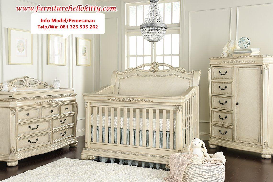 Desain 1 Set Tempat Tidur Bayi Modern, Spesifikasi Tempat