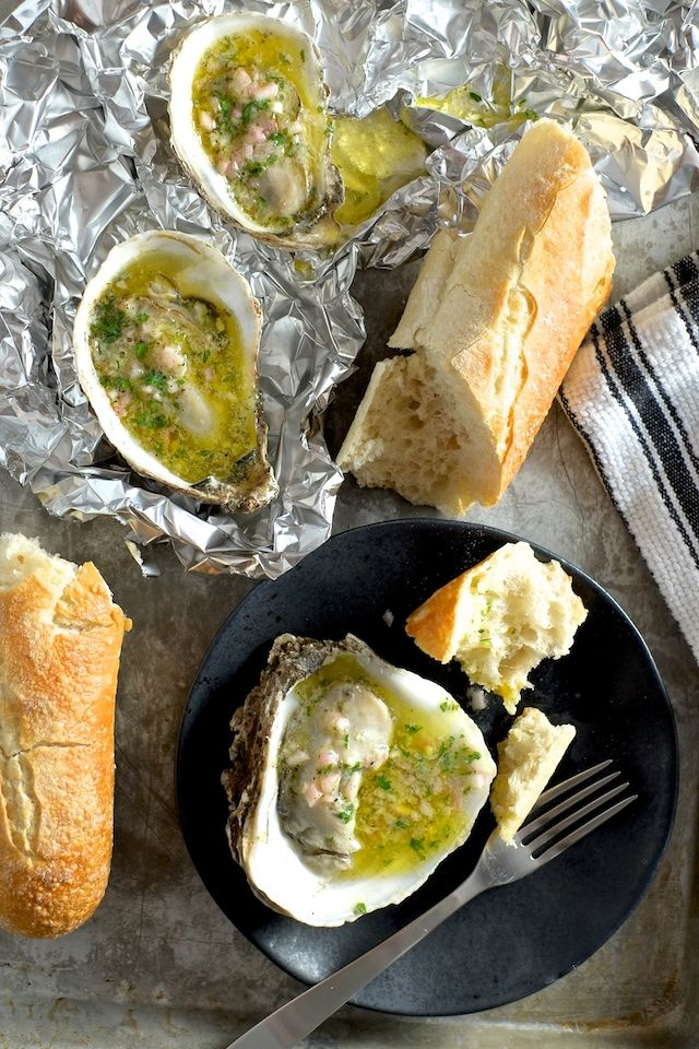 Broiled Oysters With Mignonette Butter | Sweet Salty Tart