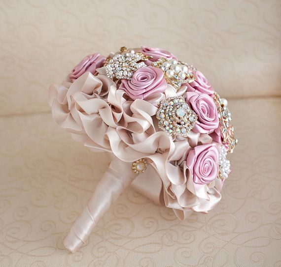 Pink Ivory and Champagne wedding bouquet | wedding | Pinterest ...