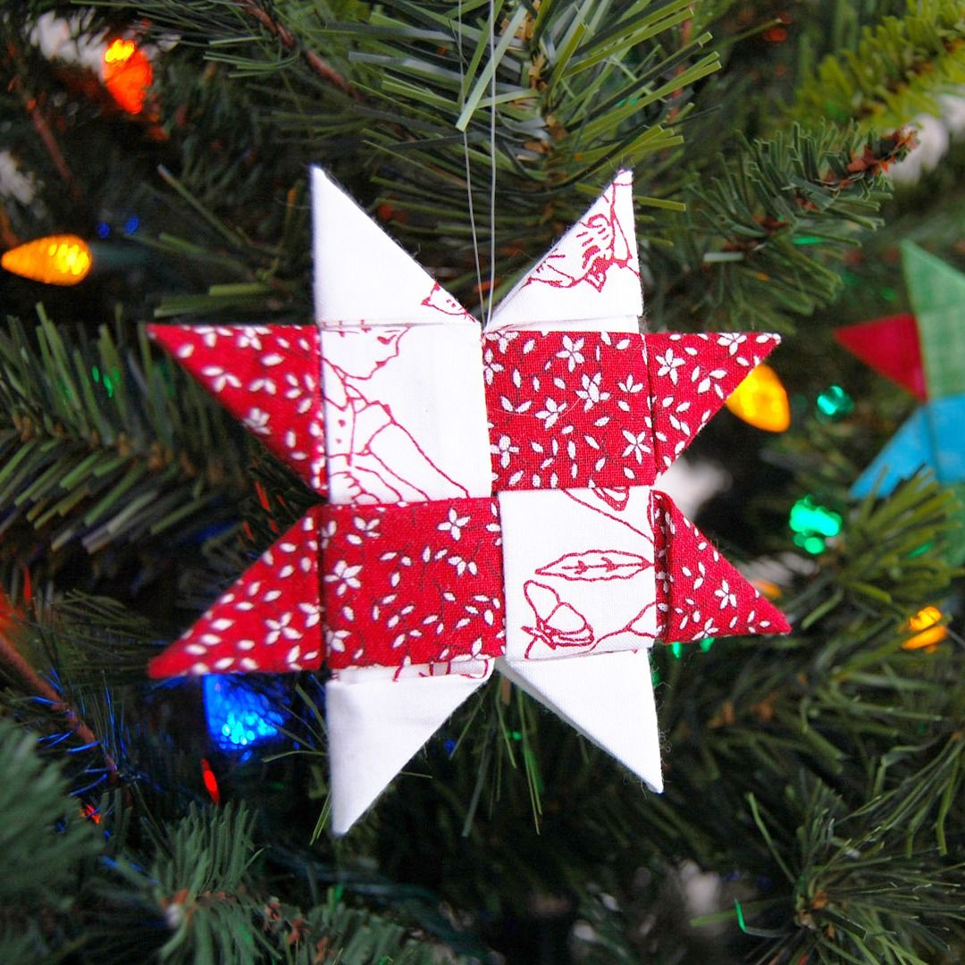 Make A Danish Star Ornament With Fabric Weallsew Christmas Crafts Star Ornament Holiday Christmas Gifts
