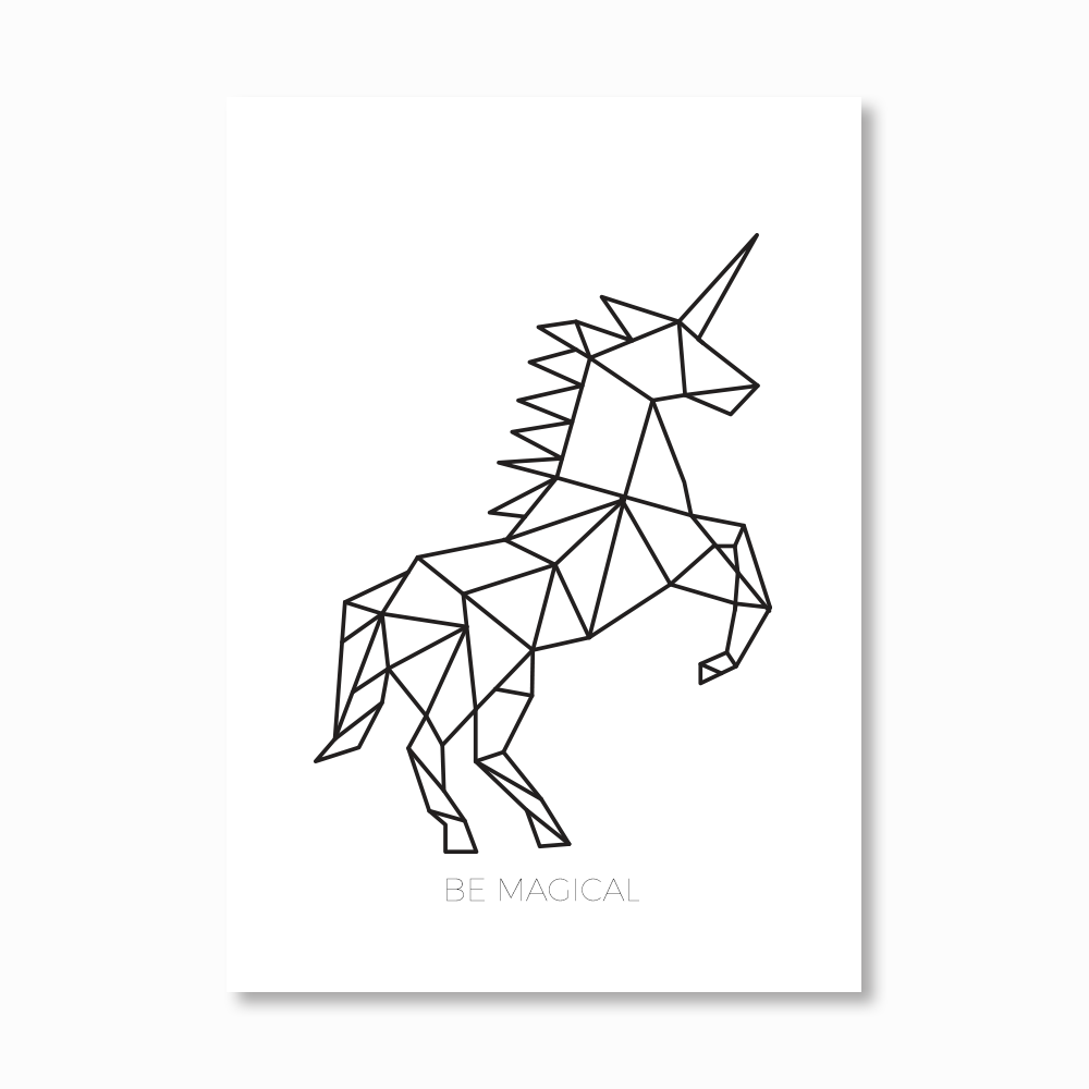 Photo of Geometric Unicorn Print – My Tattoo Blog 2020