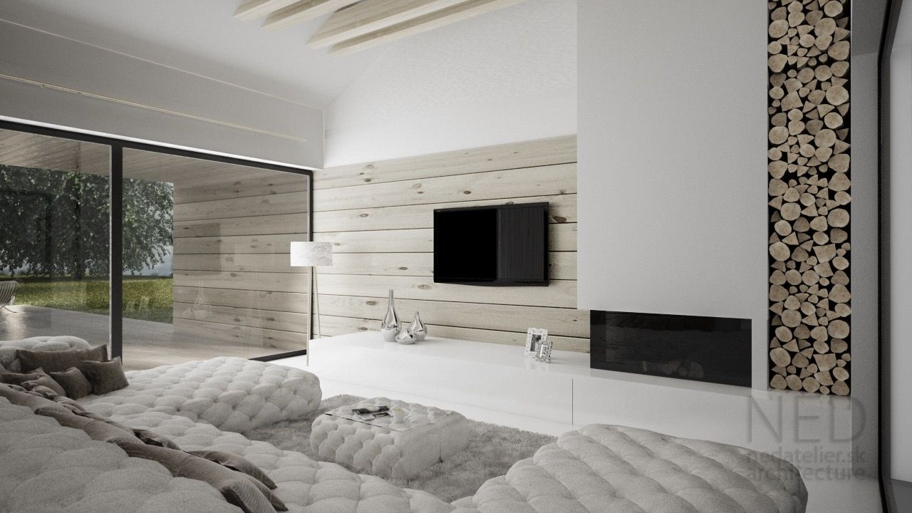Teplo v interiéry sa dá dosiahnuť materiálovým riešením ako je napríklad drevo. Drevený obklad na stenu je možné aplikovať v interiéry aj v exteriéry