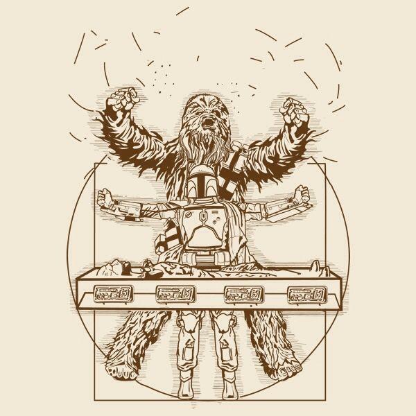 Vitruvian Man: Chewbacca, Star Wars by samiel | Variations