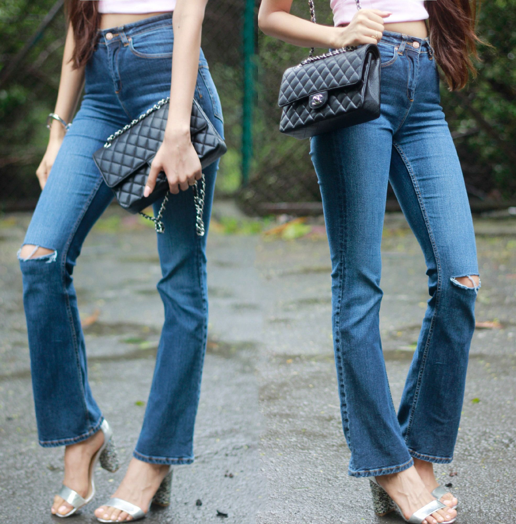 Fit and Flare Jeans / Casual Chic Street Style