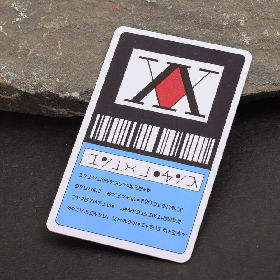 USA Seller Cosplay Hunter x Hunter 2 Star Hunter License Card GING FREECSS Card
