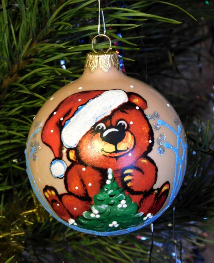 Decorating Glass Ball Ornaments Modern Ukrainian Christmas Ornament Tree Decoration Glass Ball