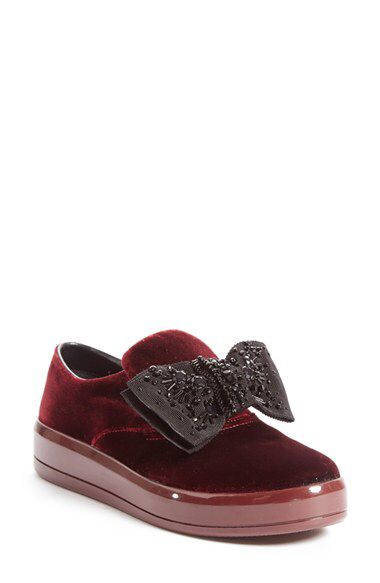 364d8b37799 Prada Prada  Bow  Skate Sneaker (Women) (Nordstrom Exclusive Color)  available at  Nordstrom