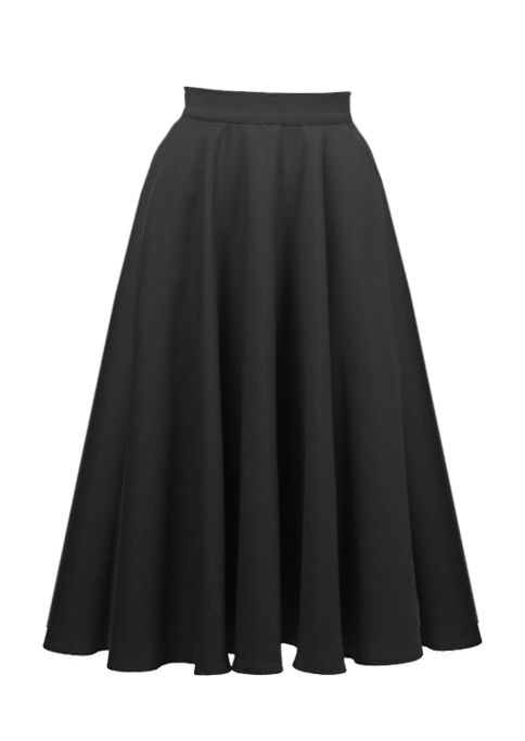 75491773b8 1950s Full Circle Skirt in black crepe by House of Foxy | Bottoms ...