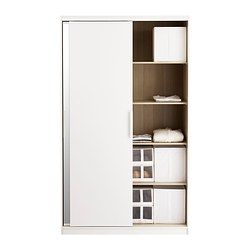 ikea morvik wardrobe black brown mirror glass. Black Bedroom Furniture Sets. Home Design Ideas