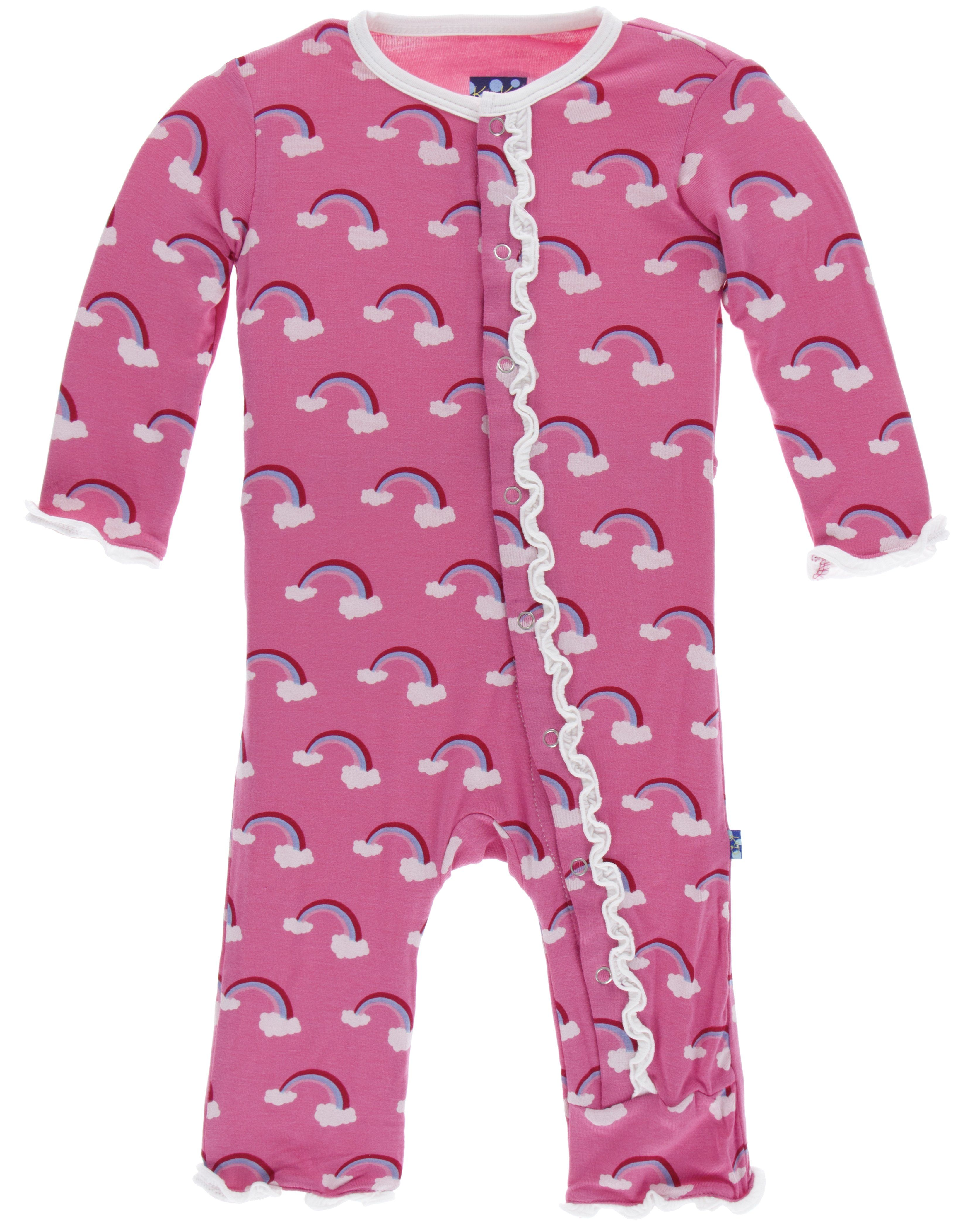 3ff4893ecf15 KicKee Pants Flamingo Rainbow Muffin Ruffle Coverall with Snaps ...