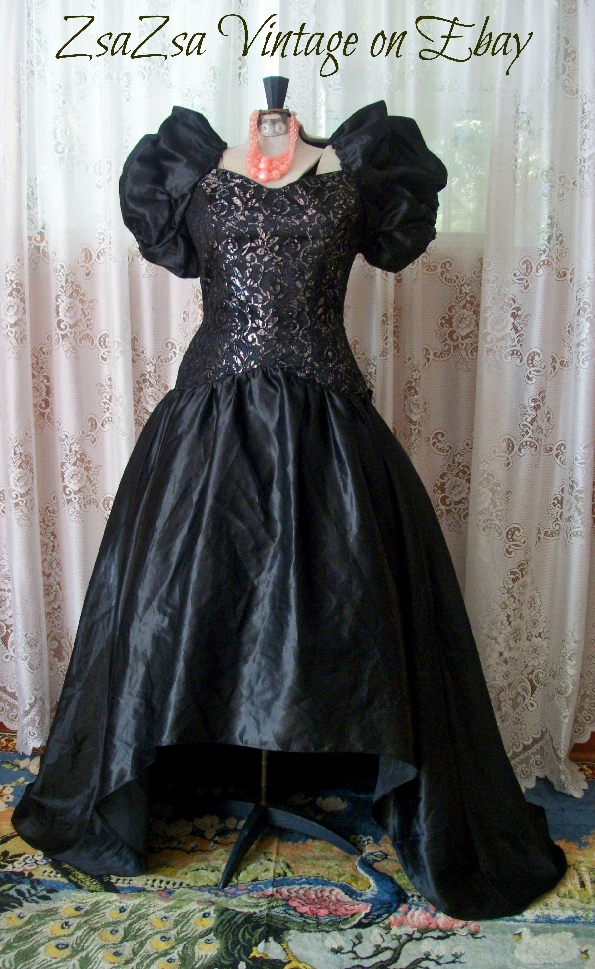 Vintage Eve Of Milady Wedding Bridesmaid Gown Dress. Vintage 80\'s ...