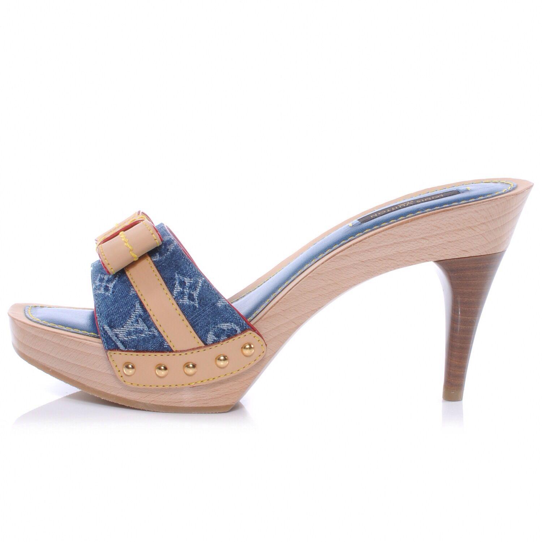 Wooden Clogs Love Love Louis Vuitton Schuhe Holz Frau