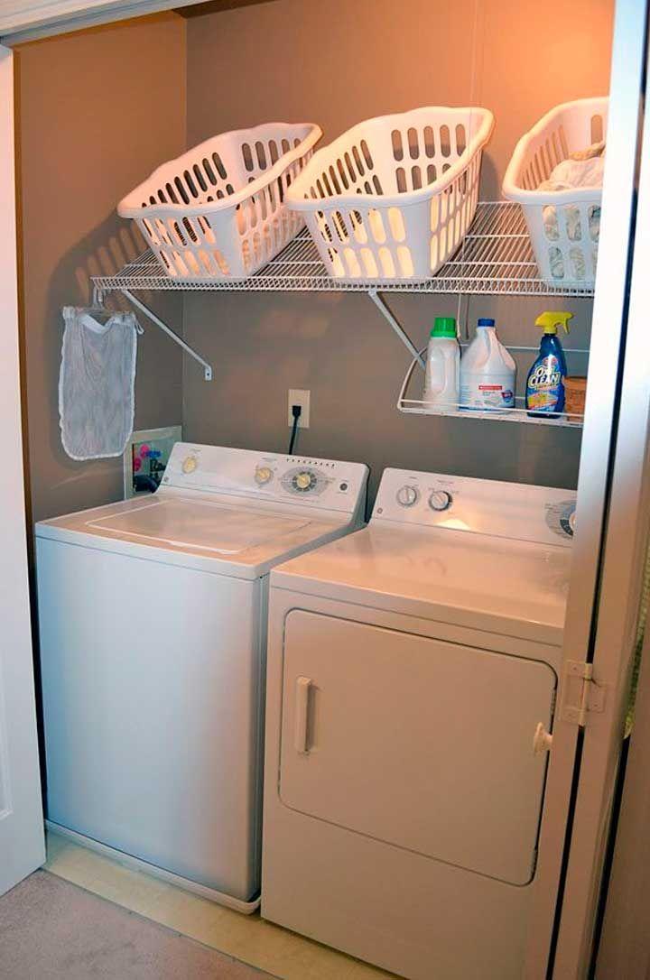 Organizador de ropas para lavadero organize pinterest for Estanteria sobre wc