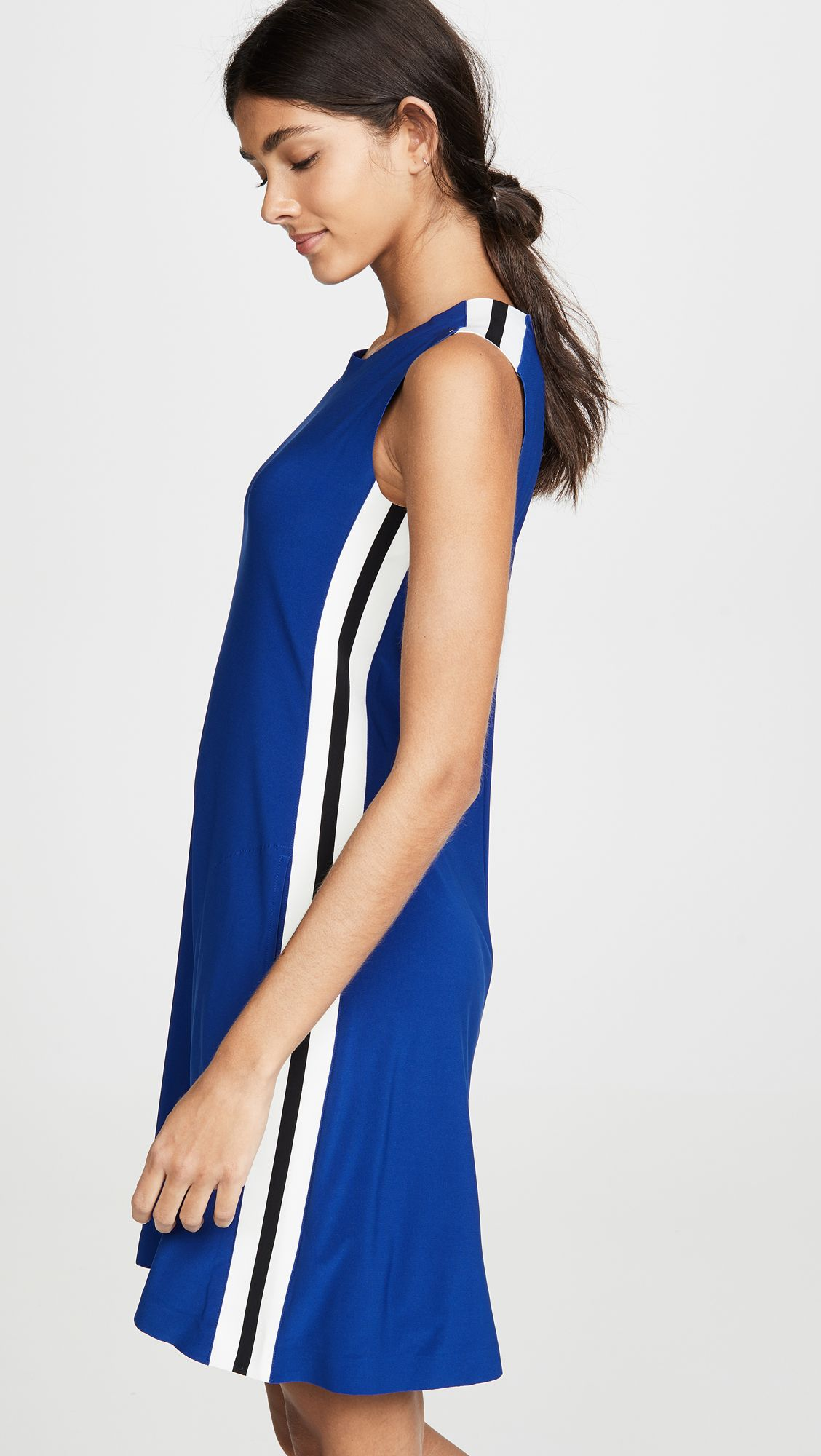 a4a02c7cbb918 Side Stripe Sleeveless Swing Dress in 2019 | Mini Dresses That Will ...