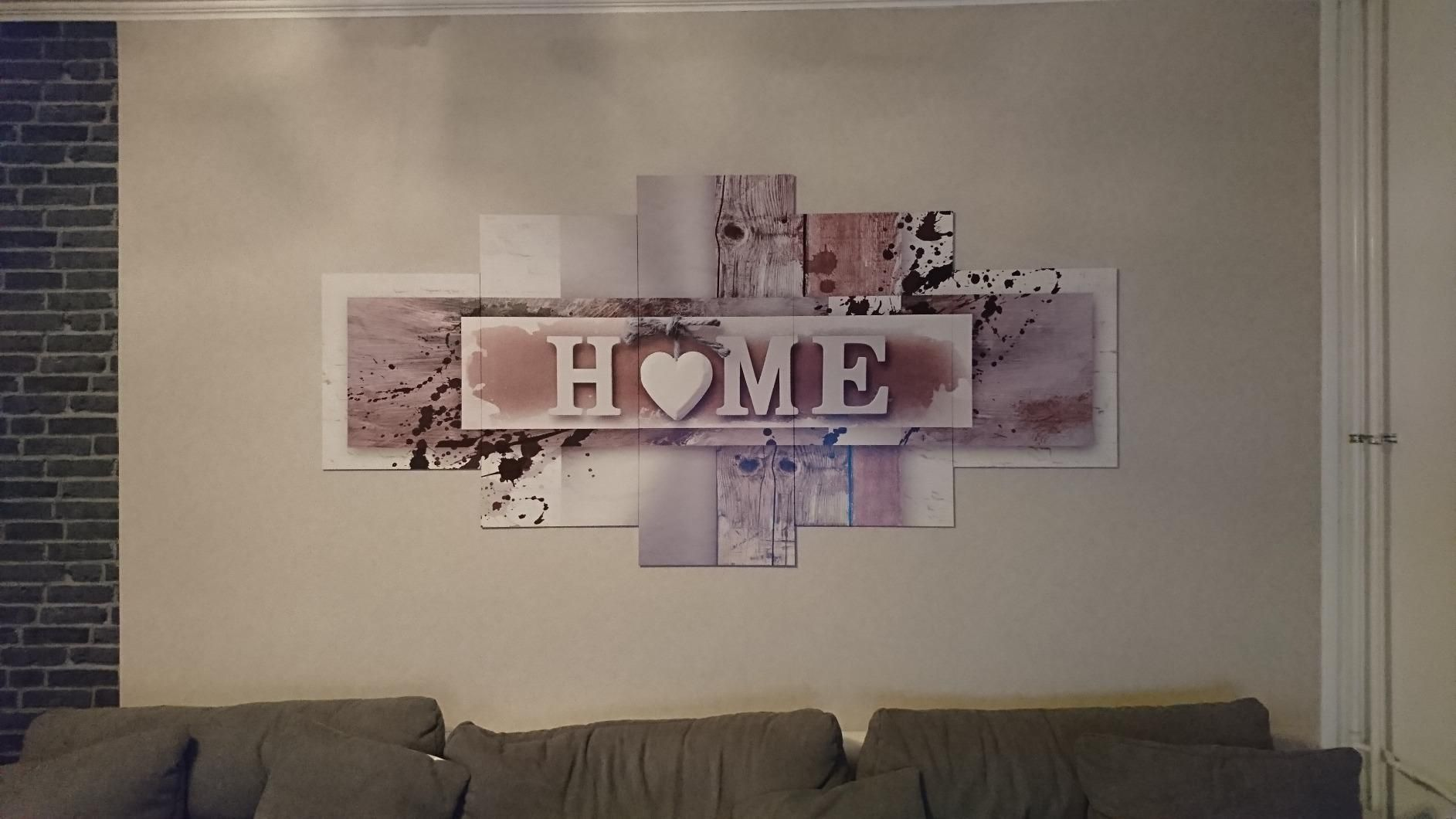 Bilder Home Herz Wandbild Vlies Leinwand Bild Xxl Format Wandbilder Wohnzimmer Wohnung Deko Kunstdrucke Grau 5 Teilig Wandbilder Wandbilder Wohnzimmer Bilder