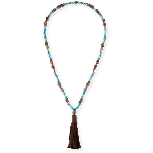 Hipchik Rachel Leather Tassel Pendant Necklace rxf5ug