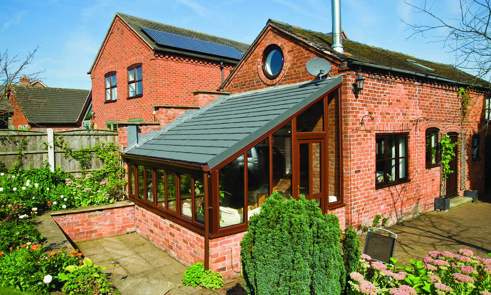 A Very Cool Looking Lean To Conservatory Finished With