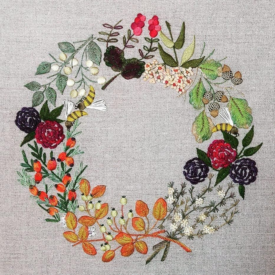 Thefrenchneedle embroidery sewing crafting sewingproject autumn
