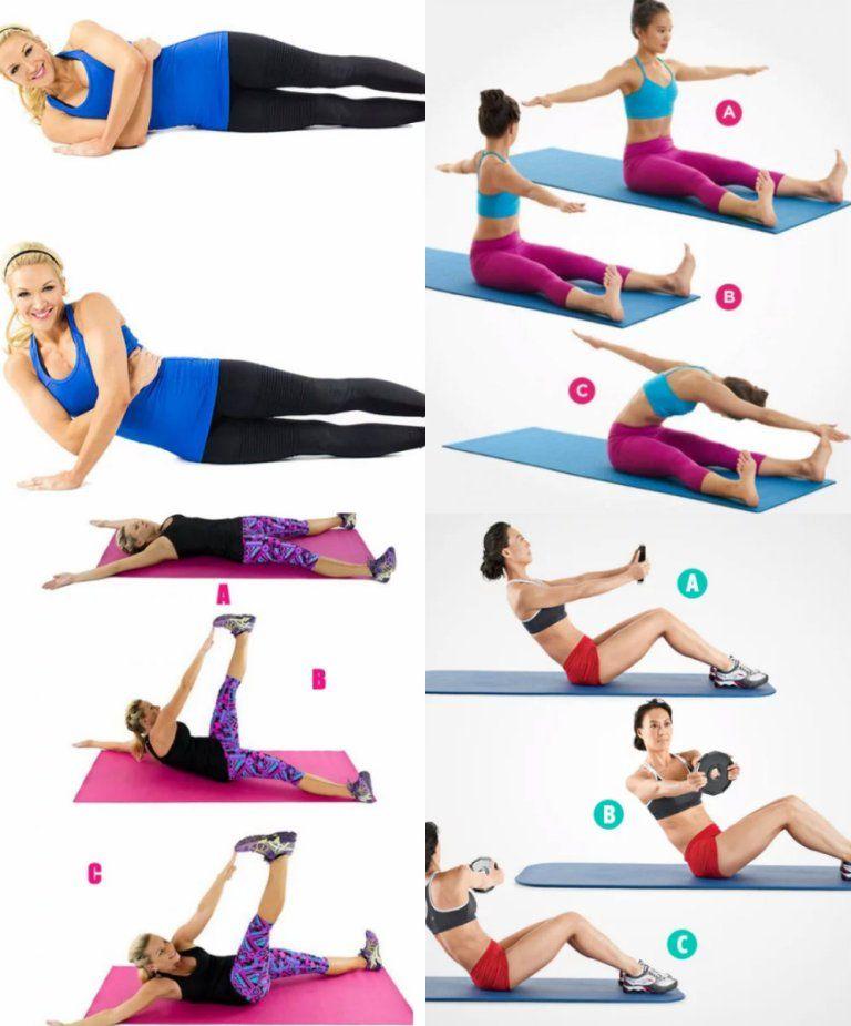 7 ejercicios para abdomen plano y cintura pequeña