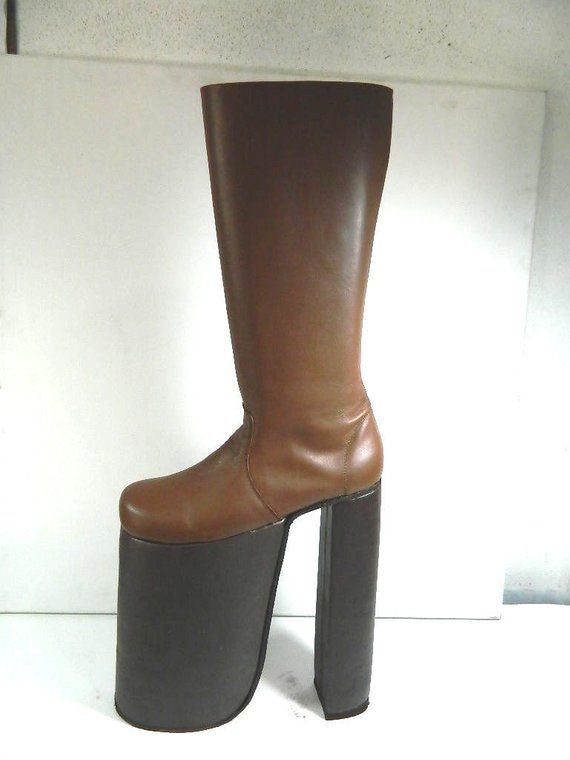 a01d7be7d70d Glam 70s rock 12 inches platform glam boots this is high made to order  choose height size and color