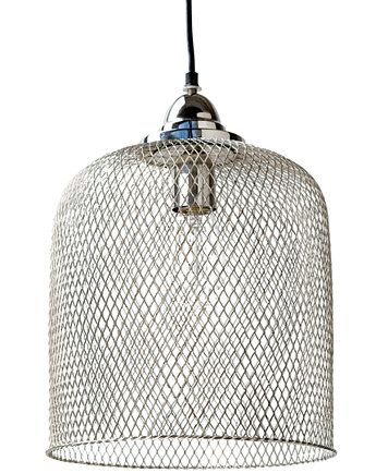 Open and inviting the dome shaped silver mesh pendant lamp adds sparkle style and illumination to your home combining modern and industrial décor